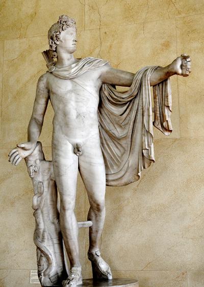 Apollon du Belvédère. Charles Alexandre Renaud.