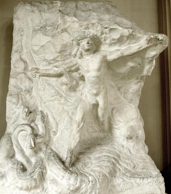 Apollon vainqueur du serpent Python. Auguste Rodin.
