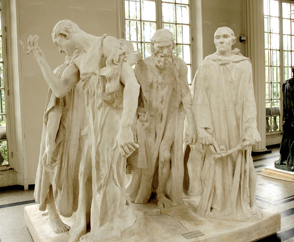 Bourgeois de Calais. Etude. Auguste Rodin.