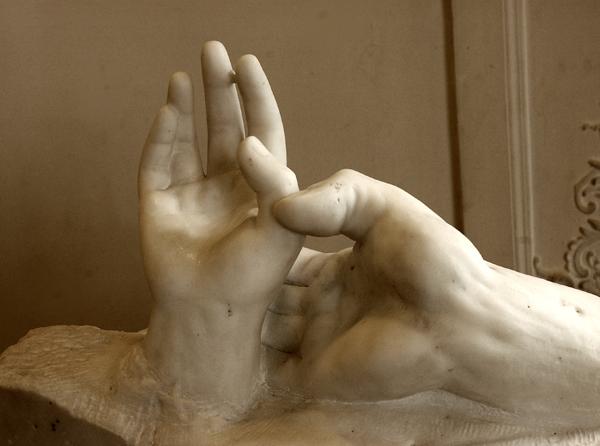 Mains d'amants. Auguste Rodin.