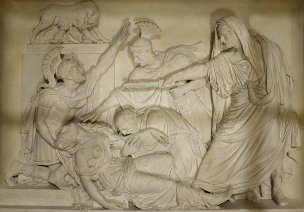 La Mort de Lucrèce. Victor Sappey.