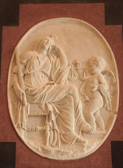 Epitaphe du roi Louis XIII. La Justice. Jacques Sarrazin.