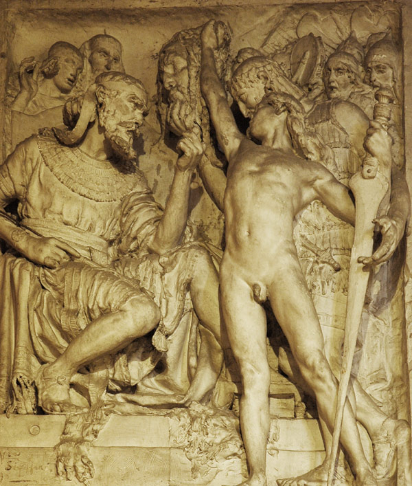 David vainqueur de Goliath. Victor Ségoffin